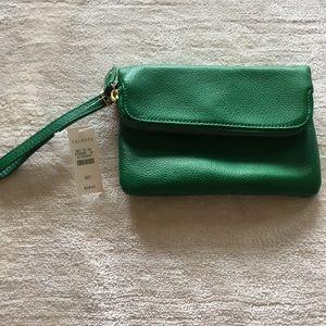 🔵NWT Talbots Leather Clutch